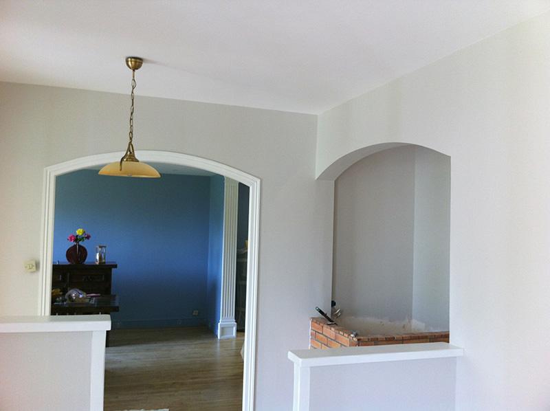 Redressage des murs et mise en peinture Finition velours