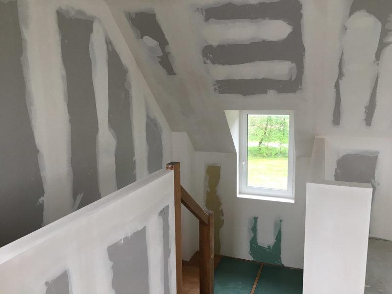 Palier cage d'escalier