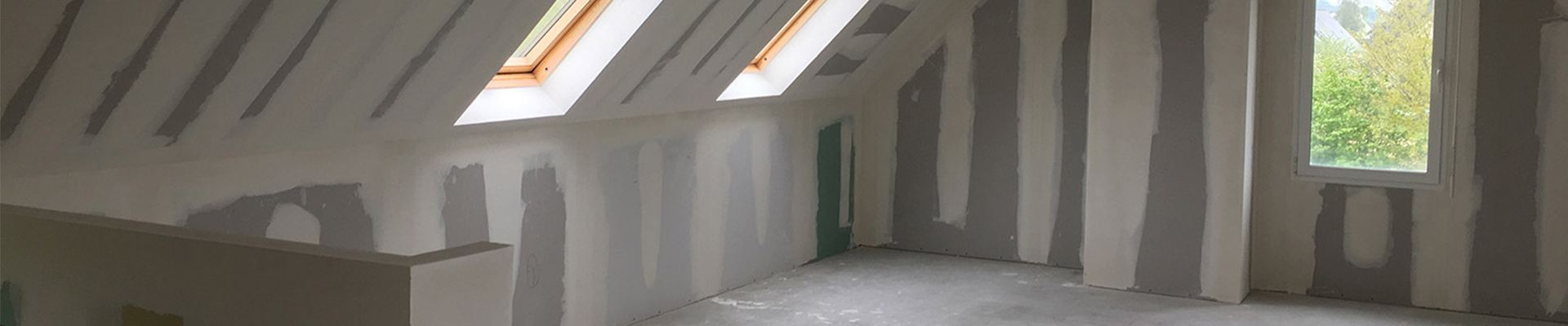 Galerie plâtrerie sèche, isolation
